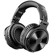 #LightningDeal OneOdio Bluetooth Over Ear Headphones - Wireless/Wired 30 Hrs Stereo Bluetooth Headsets Foldable Headset with Deep Bass 50mm Neodymium Drivers for PC/Phone - Studio Wireless(Y80B)