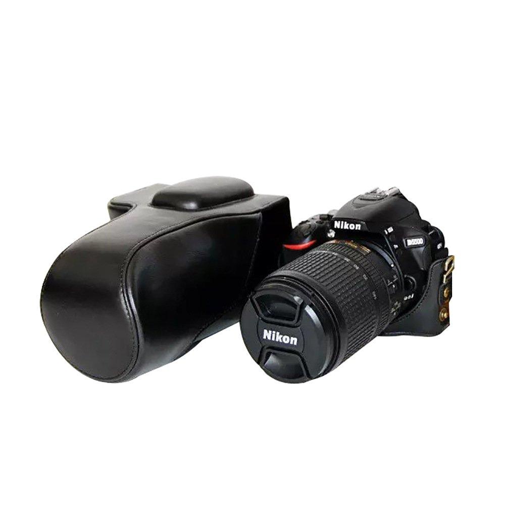 Funda de Piel sintética para cámara Nikon D5500, diseño de trípode ...