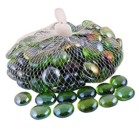 Angraves Green Decorative Glass Beads Vase Gems Amazon