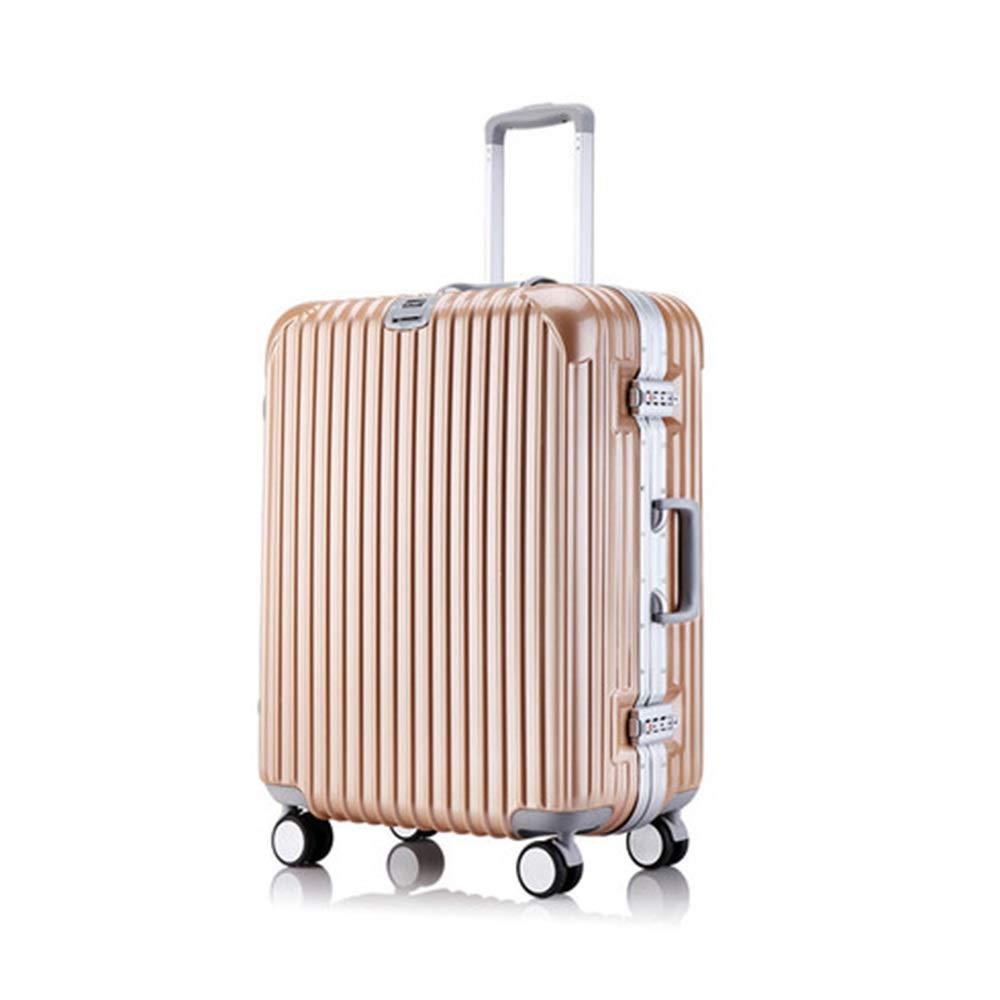 スーツケース - トロリーケースアルミフレーム軽量荷物ミュートキャスター荷物スーツケース搭乗耐久性のあるパスワードボックス - スーツケース HARDY-YI 6544 B07RXVV484