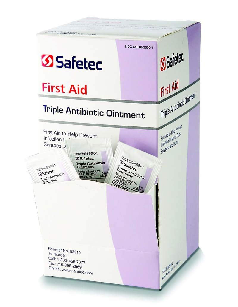 First Aid Triple Antibiotic Ointment .5gr Packets (Box of 144) (2 Pack - 144 Count/Box) by Safetec (Image #1)
