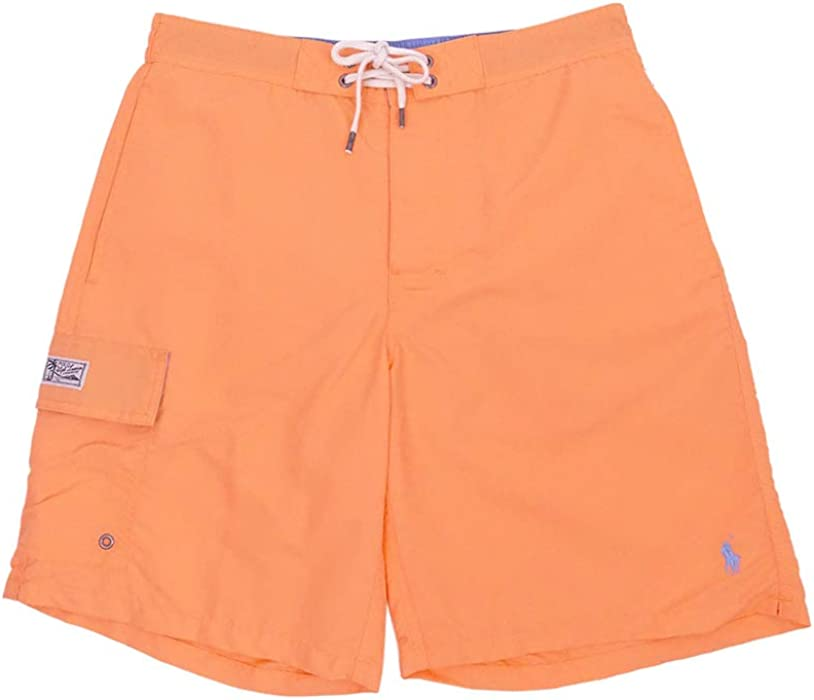 09f03e9184832 RALPH LAUREN Polo Men's 8½-Inch Kailua Swim Trunks (Fair Orange, Small)