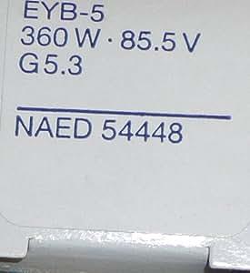 OSRAM Halogen Photo Optic Lamp: EYB-5 360W 85.5V G5.3