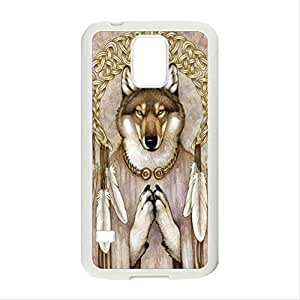FUNNY DIY Interesting Design Abstract Animal Totems of Dog Pattern HD Durable Hard Plastic Case Cover for Samsung Galaxy S5