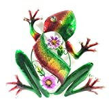 Bejeweled Display® Green Frog w/ Glass Wall Art Plaque & Home Decor