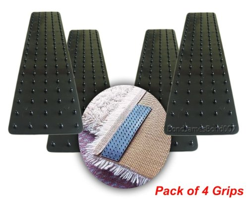 Good Ideas Pk of 4 Self-Stick Anti Slip Carpet Grips (300) - No more slipping rugs or carpets Manufactured for Good Ideas