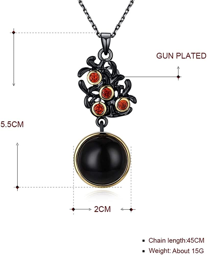 IIUUGG Rose Gold Color Flower Cubic Zirconia Chain Necklace for Women Trendy Colorful Necklace Accessories