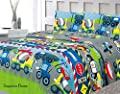 Twin/Full Size Theme Print Sheet Set with Fitted, Flat and 2 Pillow Cases, Bedding Sheet Set for Boys, Girls, Kids, Teens - Various Theme Prints