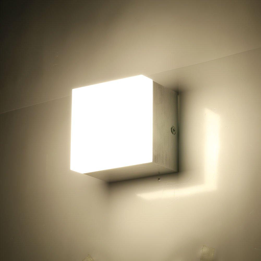 GHB LED Deckenleuchte 10W Deckenlampe Fr Kche Flur Schlafzimmer IP20 Warmweiss Amazonde Beleuchtung