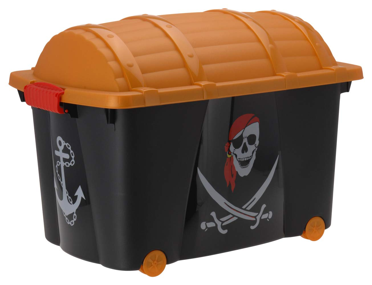 EMAKO Storage box pirata petto cassettiera su ruote Pirate Toy Storage box 57 l