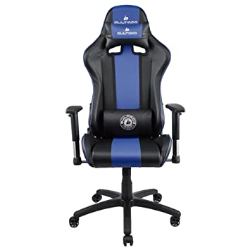 Bultaco BL-CH-101-BLUE Silla Gaming, PVC, Negra/Azul, Large: Amazon.es: Hogar