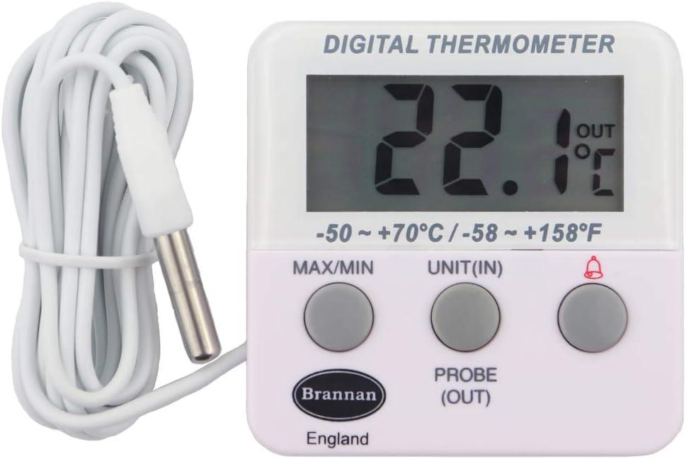 Nevera digital o un termómetro de congelador con alarma: Amazon.es ...