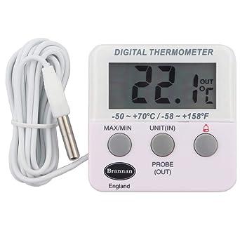 Nevera digital o un termómetro de congelador con alarma