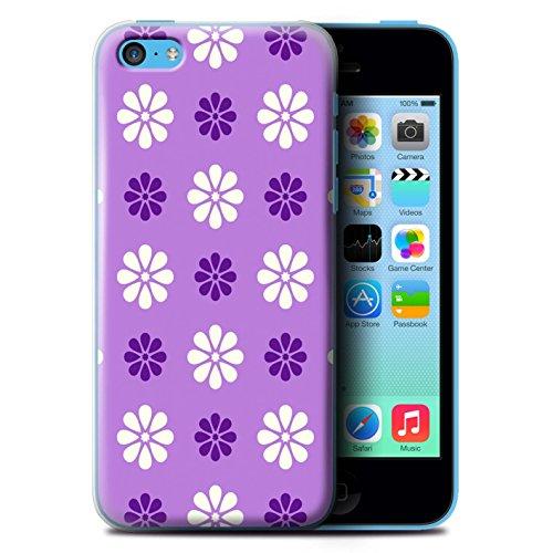 Stuff4 Hülle / Hülle für Apple iPhone 5C / Lila Muster / Muster mit Blütenblättern Kollektion
