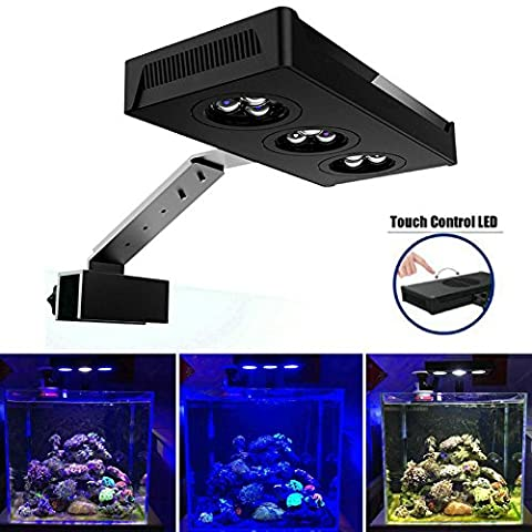 Hipargero Touch Control 30w CREE Nano LED Aquarium Light for Coral Reef Fish Tank Saltwater - Marine Reef Tank