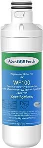 Aqua Fresh WF100 Refrigerator Water Filter, Replacement for LG LT1000P, LT1000PC, LT-1000PC, LT1000PCS, ADQ74793501, ADQ74793502, Kenmore 46-9980, 9980 NSF CERTIFIED (1 Pack)