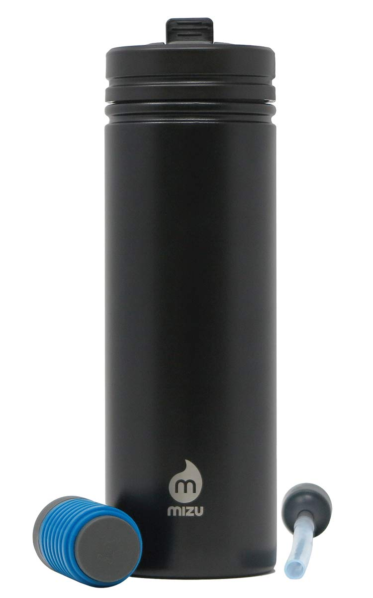 360 M9 Everyday Kit Stainless Steel Water Bottle with Straw Lid and Everyday Filter 30 oz Mizu BPA Free