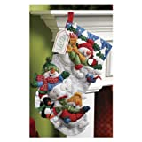Bucilla 18-Inch Christmas Stocking Felt Applique Kit, 86108 Snow Fun