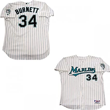 on sale 6a6a8 428fd AJ Burnett Game Used Florida Marlins Jersey at Amazon's ...
