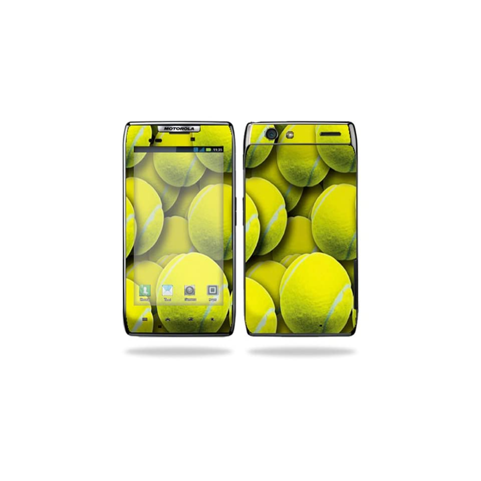 Protective Vinyl Skin Decal Cover for Motorola Droid Razr Android Smart Cell Phone Sticker Skins   Tennis