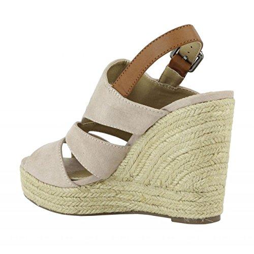 Zapatos de cuña de Mujer REFRESH 61784 ANT NUDE