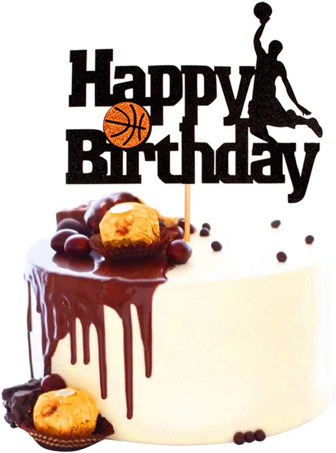 ecc. per torte compleanni feste per uomini ragazzi tema scena di basket frutta 1 topper per torta da basket Unimall eventi