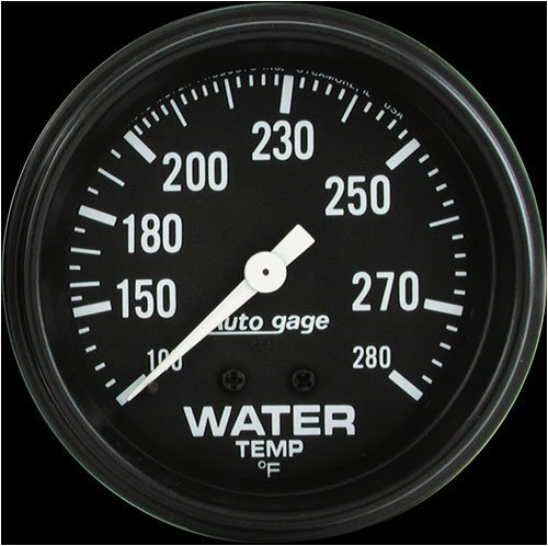 Autometer 2313 2-5/8'' WATER TEMP, 100- 280`F, MECH by AUTO METER