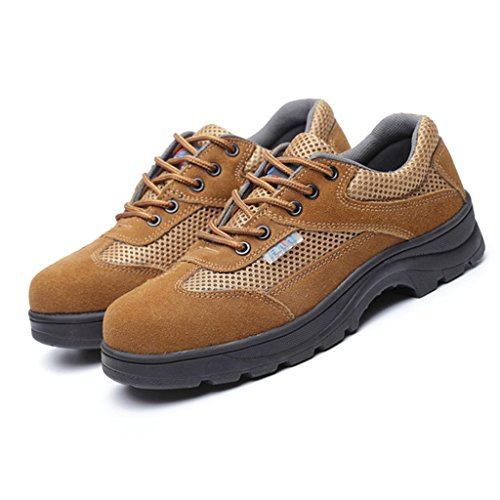 Chaussures de Homme Bottes Embout en Brun Travail Homyl Travail Acier Sécurité Respirante pZqfn5