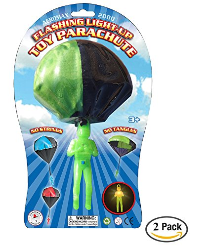 Aeromax Light Up Parachute, 2 pack by Aeromax