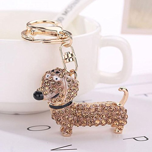 (1 Pc Mini Pocket Rhinestone Dachshund Keychain Keyring Keyfob Dog Pendant Key Chain Ring Fob Tag Holder Finder Necklace Defectless Popular Cute Wristlet Utility Keychains Tool Women Girl Gift, Type-03)