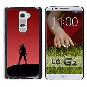 Ihec Tech Soldier & Red Sky / Funda Case back Cover guard / for LG G2