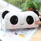 jilesm Cute felpa Panda lápiz pluma bolsa de maquillaje bolsa