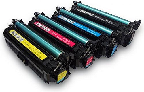 GLB Premium Quality Remanufactured Replacement for HP 647A/648A/649X Toner Cartridge Set CE260X,CE261A,CE262A,CE263A For HP Color LaserJet Enterprise CP4525dn, CP4525n, CP4525xh Printers.