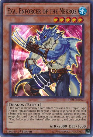 Yu Gi Oh    Exa  Enforcer Of The Nekroz  Thsf En012    The Secret Forces   1St Edition   Super Rare
