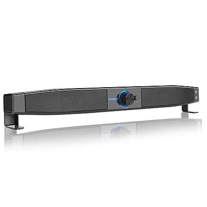 KUNCC Altavoz De Ordenador Portátil USB Mini Multimedia Desktop Altavoces con Auriculares/Mic Jack para