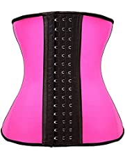 Camellias Women's Underbust Latex Sport Girdle Waist Trainer Corset Hourglass Body Shaper