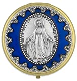 60mm Immaculate Conception Pyx by Venerare (Blue Enamel)