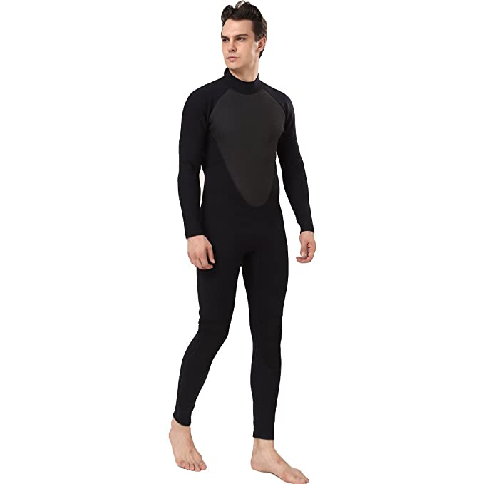 304ee6371d42 Amazon.com : Realon Wetsuit Men Full 3mm Surfing Suit Shorty 3/4mm, 4/5mm  Diving Snorkeling Swimming Jumpsuit : Clothing