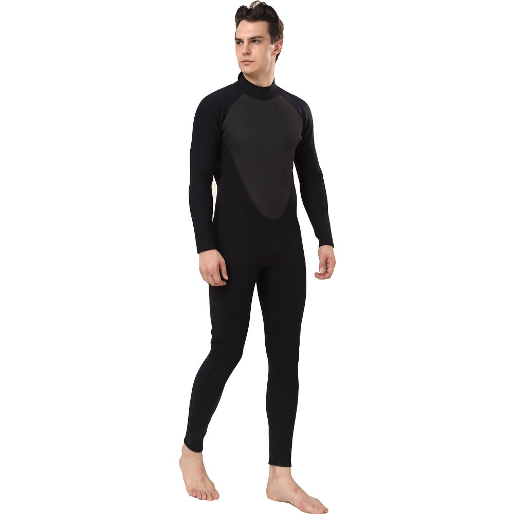 Realon Wetsuit Men Full 2/3mm Surfing Suit Diving Snorkeling Swimming Jumpsuit (2/3mm Black, 3XL) by Realon (Image #3)