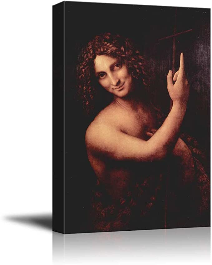 Leonardo Da Vinci Saint John The Baptist Panting XL Wall Art Canvas Print