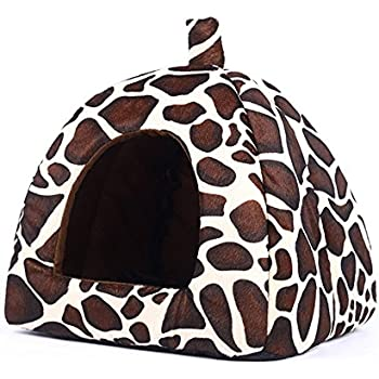 Amazon.com : Pet Igloo Cat Dog House Bed Kitten Puppy Cave