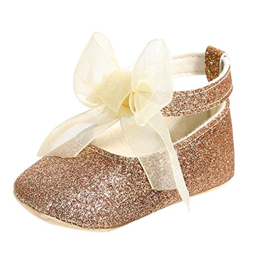 WOCACHI Baby Girls Shoes Princess Bandage Toddler Shoes Sequins First Walkers Kid Shoes Back to School Clearacne Sale Deal Gold