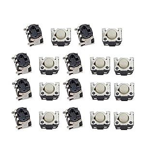 uxcell 19Pcs 3 Pin Square 4.4mmx3.4mmx2.8mm Self-Locking DPDT Mini Push Button Switch