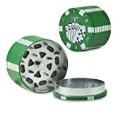 3pc Poker Chips Novelty Tobacco Herb Grinder with Pollen Sifter - 25