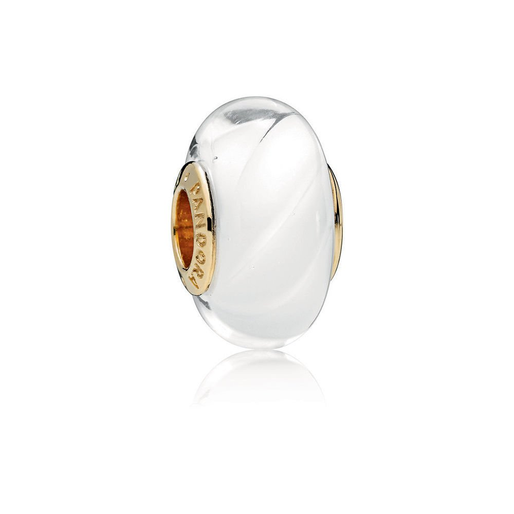 PANDORA Shine White Waves Glass 767160