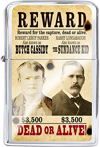 Victor Western Wanted Poster Oil Lighter (Butch Cassidy & Sundance Kid)
