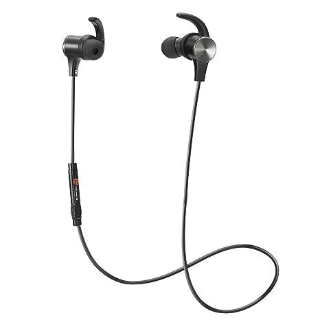 TaoTronics Cuffie Bluetooth Magnetiche Auricolari Sportivi Wireless Stereo ( Bluetooth 4.1 IPX5 aptX A2DP 8 Ore 65cdd91c635e