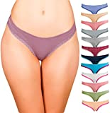 Emprella Womens Underwear Bikini Panties - 12 Pack Colors and Patterns May Vary … (Small, Assorted)