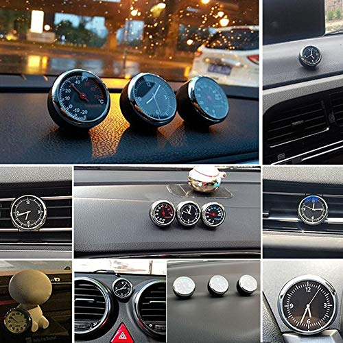 Portable Size Car Automobile Hygrometer Auto Beautiful Car Vehicle Interior Decoration Ornament Car Styling Silver