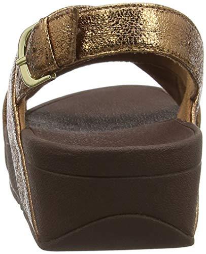 Sandal 012 Abierta bronze Mujer Molten Punta Con Metal Fitflop Sandalias Para Marrón Lulu qtwS7FZA